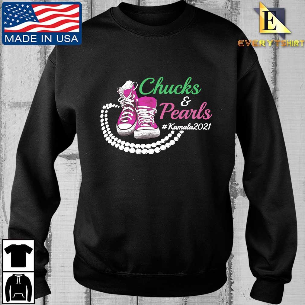 Kamala Harris Chucks And Pearls Aka Sorority 1908 Converse Shirt