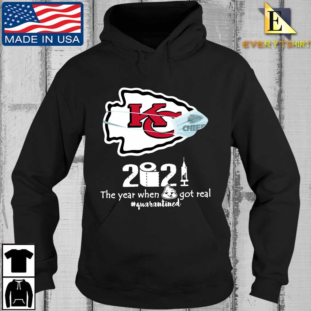 Kansas City Chiefs face mask 2021 toilet paper the year when got real #quanrantined s Every Hoodie den