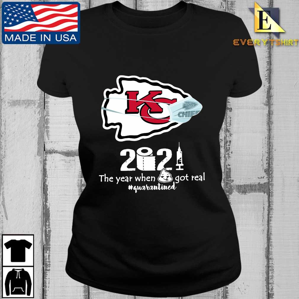 Kansas City Chiefs face mask 2021 toilet paper the year when got real #quanrantined s Every ladies den
