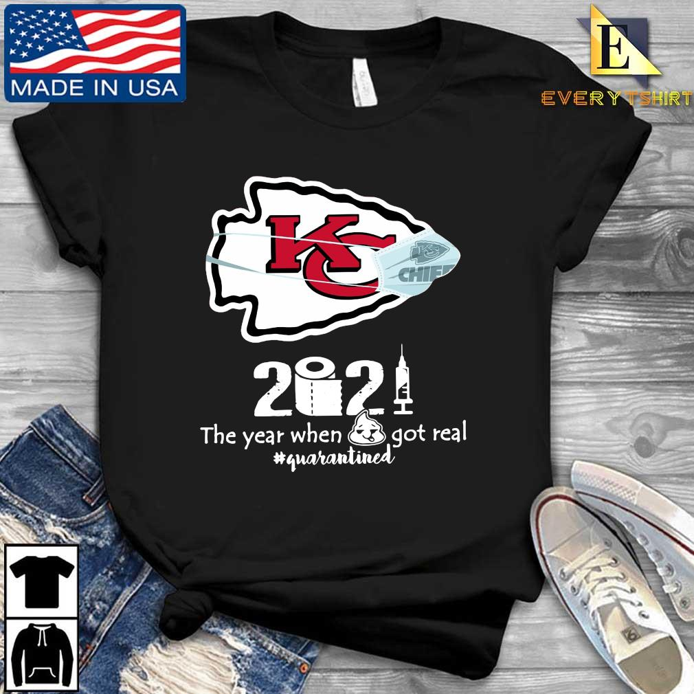 Kansas City Chiefs face mask 2021 toilet paper the year when got real #quanrantined s Every shirt den dai dien