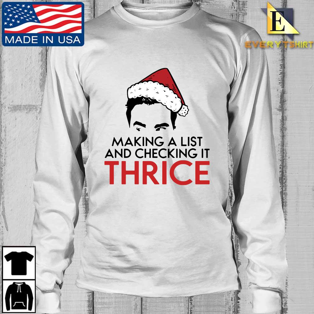 making a list and checking it twice Christmas sweater Longsleeve Every trang