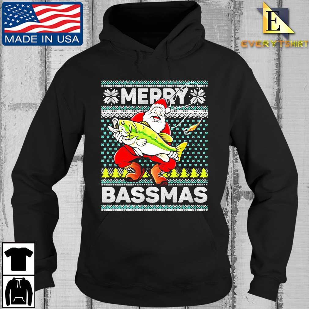 Merry Bassmas Fish Santa Christmas Sweats Every Hoodie den