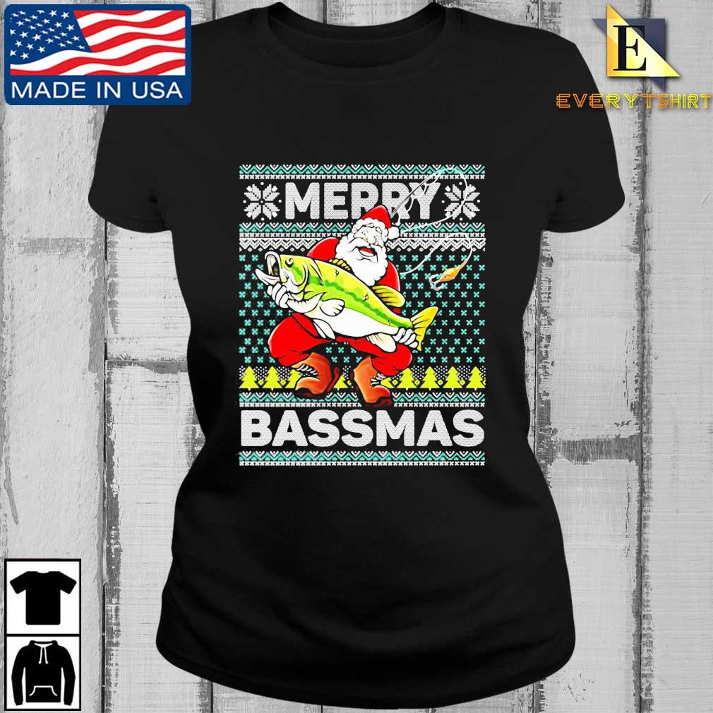 Merry Bassmas Fish Santa Christmas Sweats Every ladies den