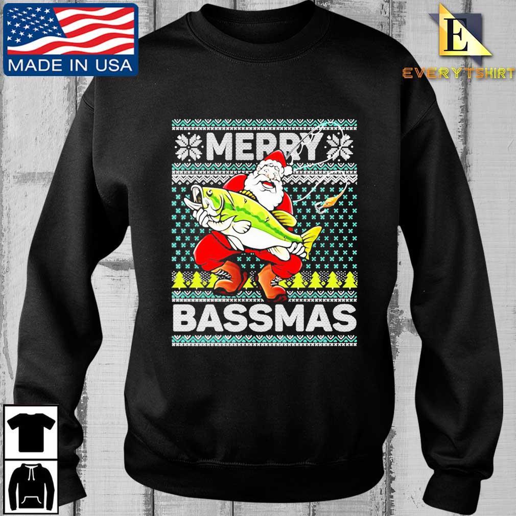 Merry Bassmas Fish Santa Christmas Sweats Every sweater den