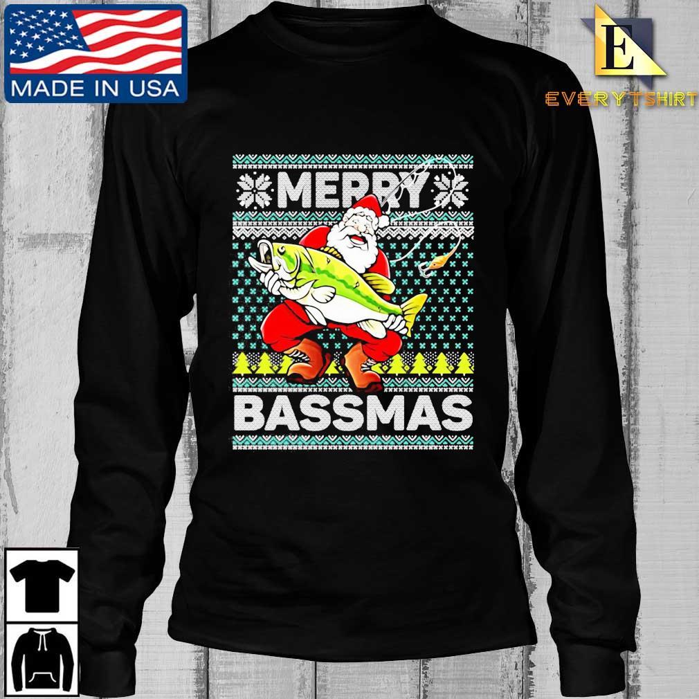Merry Bassmas Fish Santa Christmas Sweats Longsleeve Every den