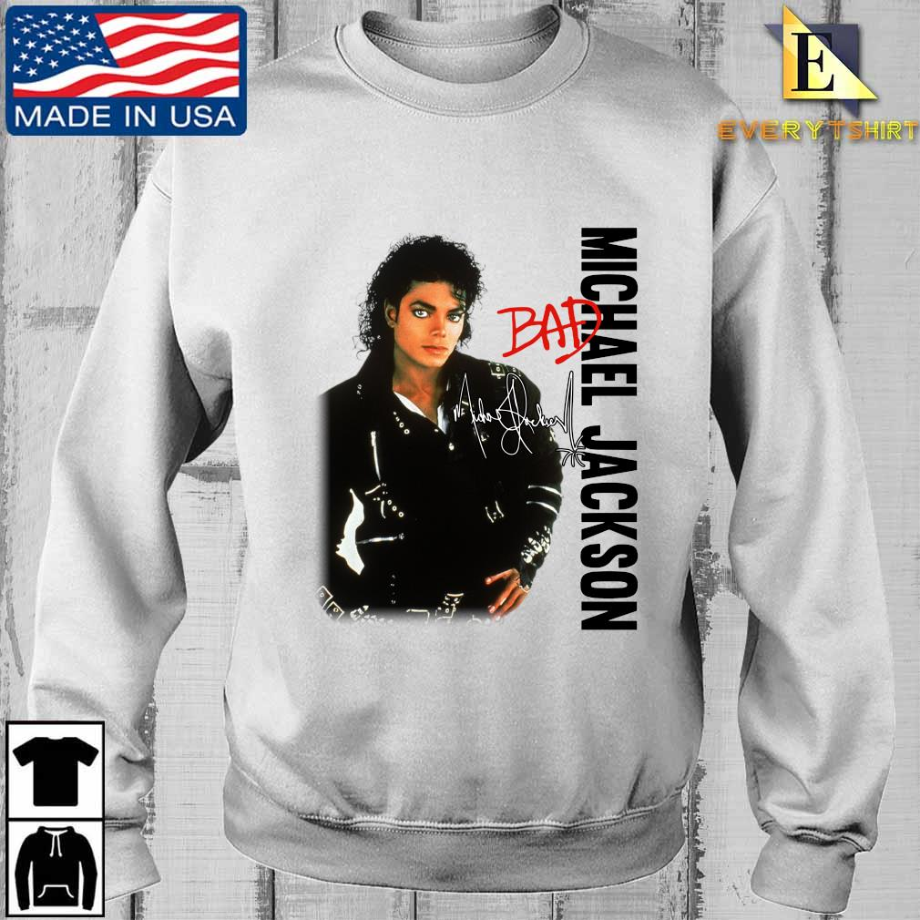 Michael Jackson bad signature shirt