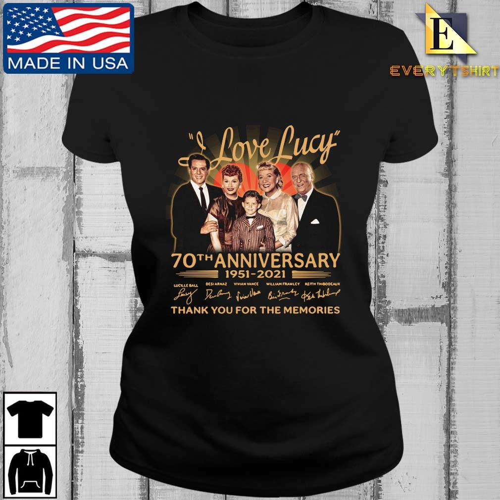Official I Love Lucy 70th anniversary 1951-2021 thank you for the memories signatures s Every ladies den