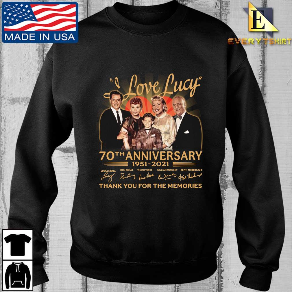 Official I Love Lucy 70th anniversary 1951-2021 thank you for the memories signatures shirt