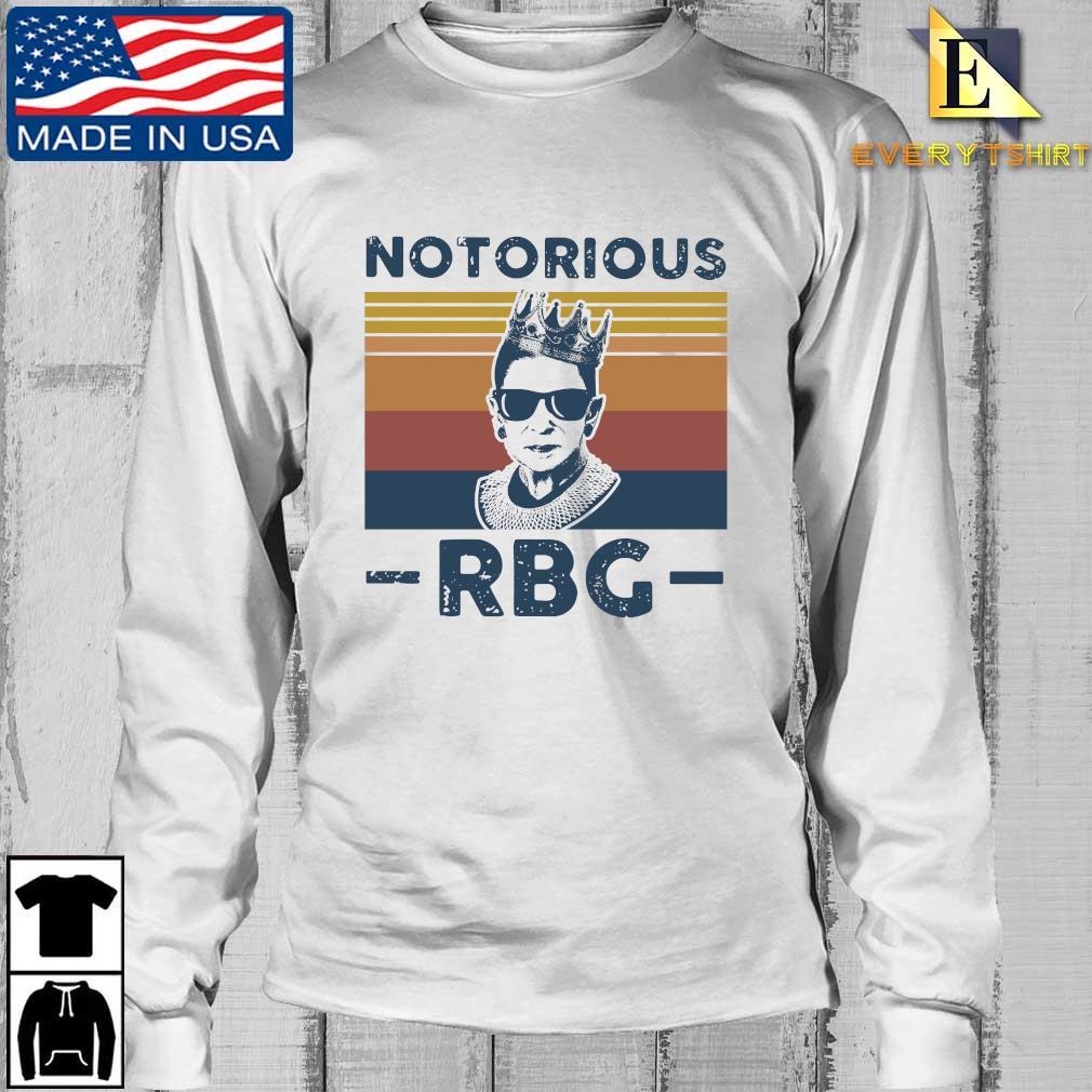 Ruth Bader Ginsburg notorious RBG crown vintage s Longsleeve Every trang