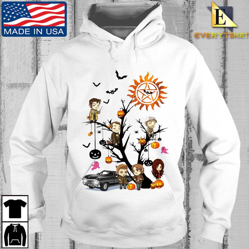 Supernatural chibi character on tree halloween s Every hoodie trang