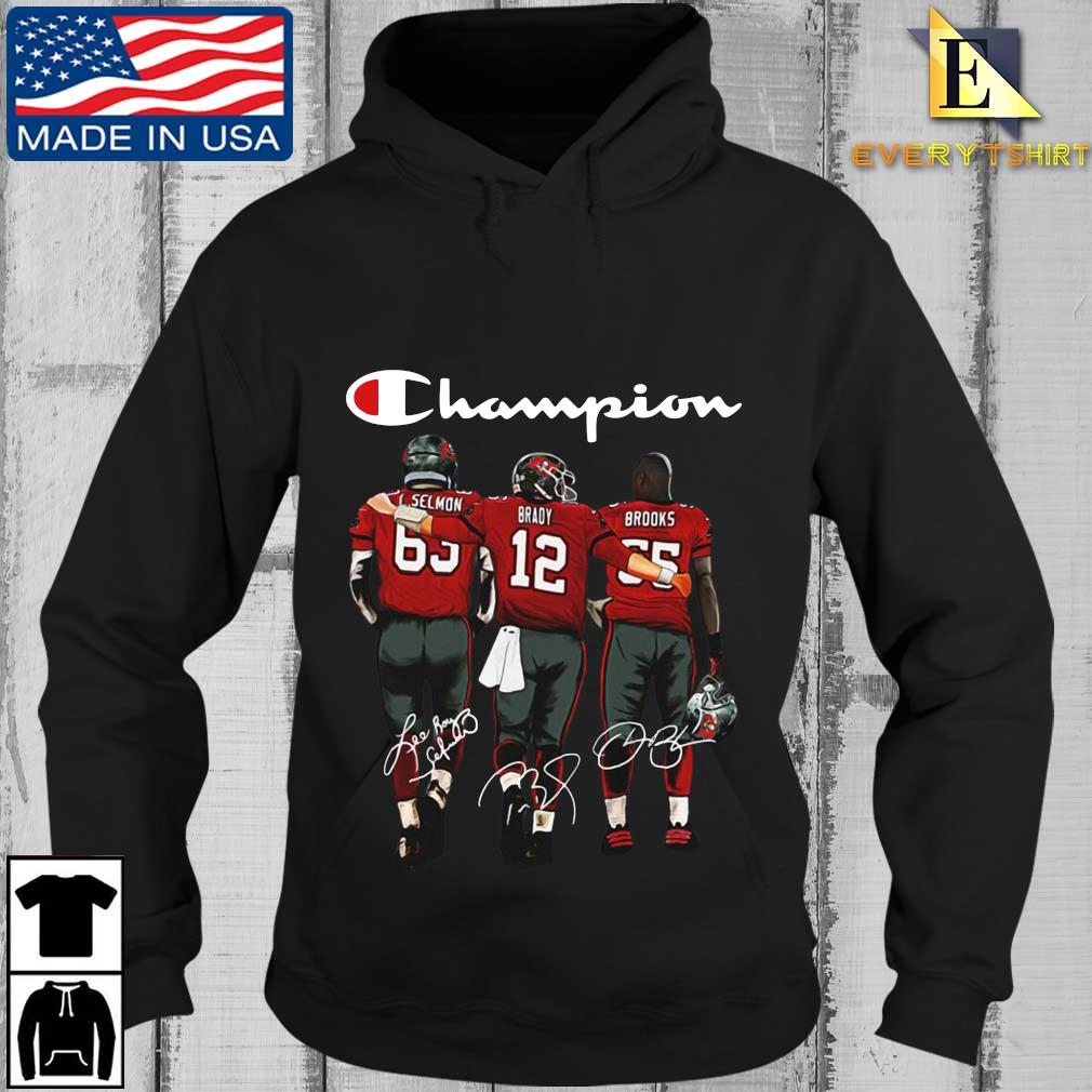 Tampa Bay Buccaneers Champion Selmon Brady Brooks signatures s Every Hoodie den