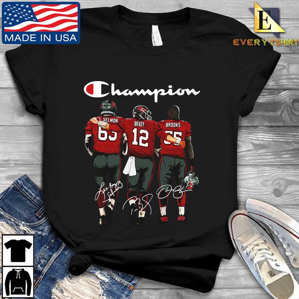 Tampa Bay Buccaneers Champion Selmon Brady Brooks signatures s Every shirt den dai dien