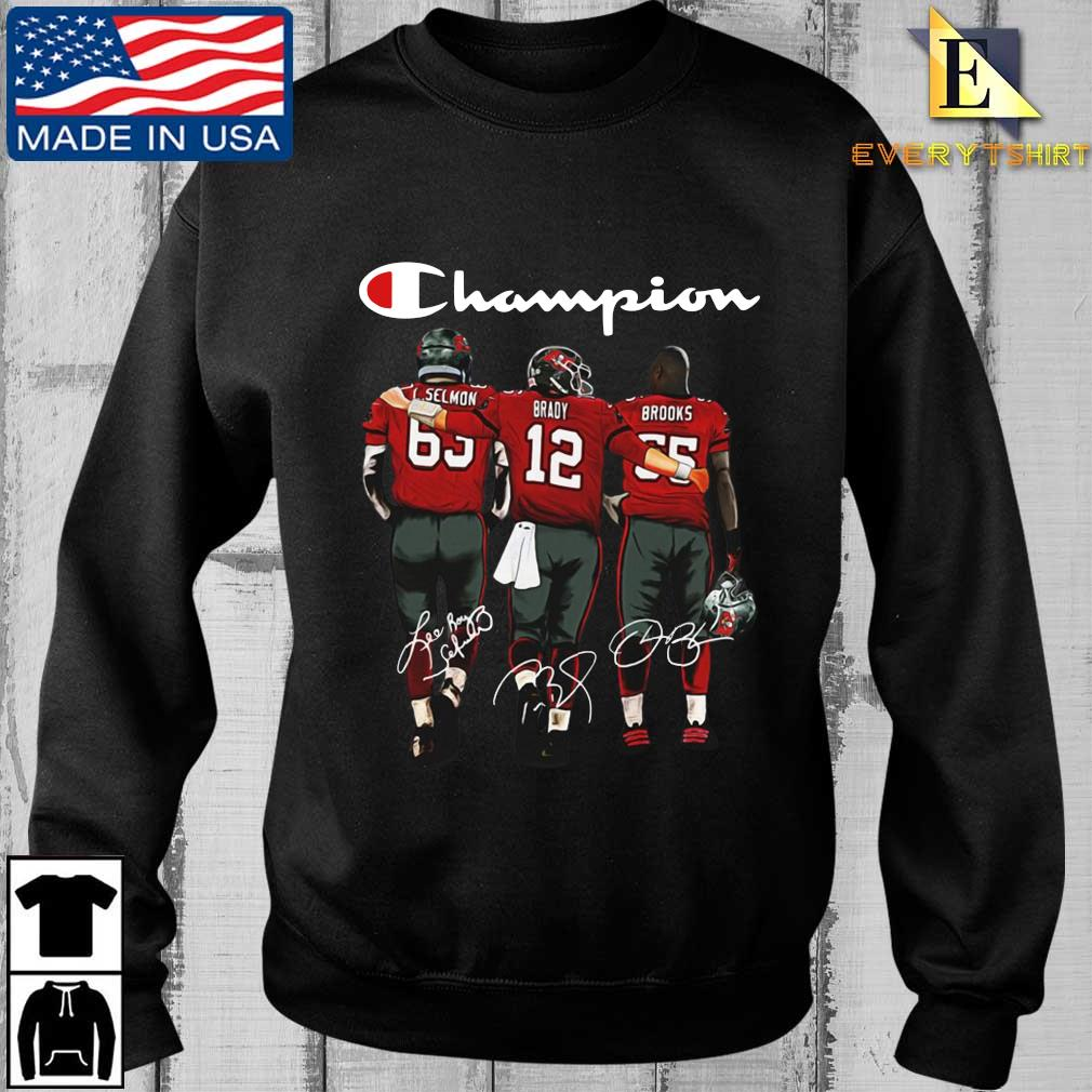 Tampa Bay Buccaneers Champion Selmon Brady Brooks signatures shirt