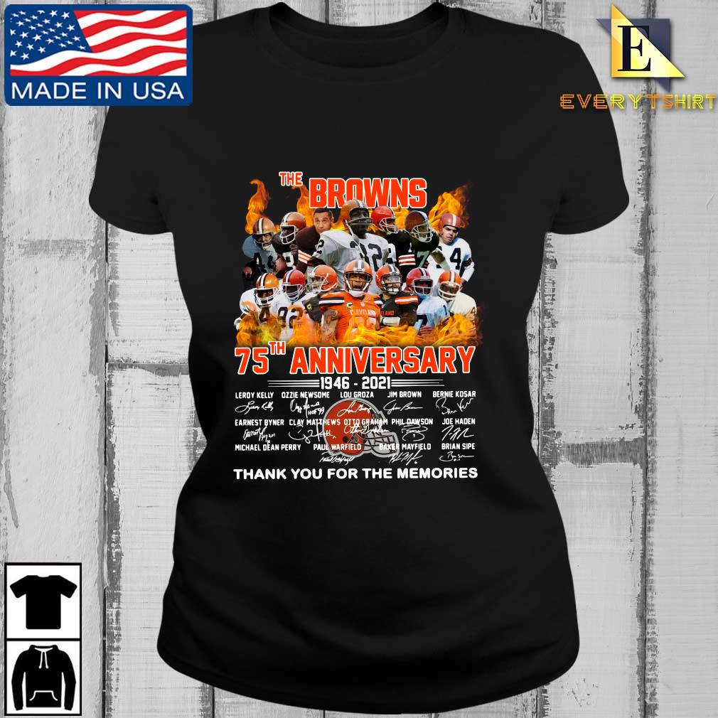 The Cleveland Browns 75th anniversary 1946-2021 thank you for the memories signatures s Every ladies den