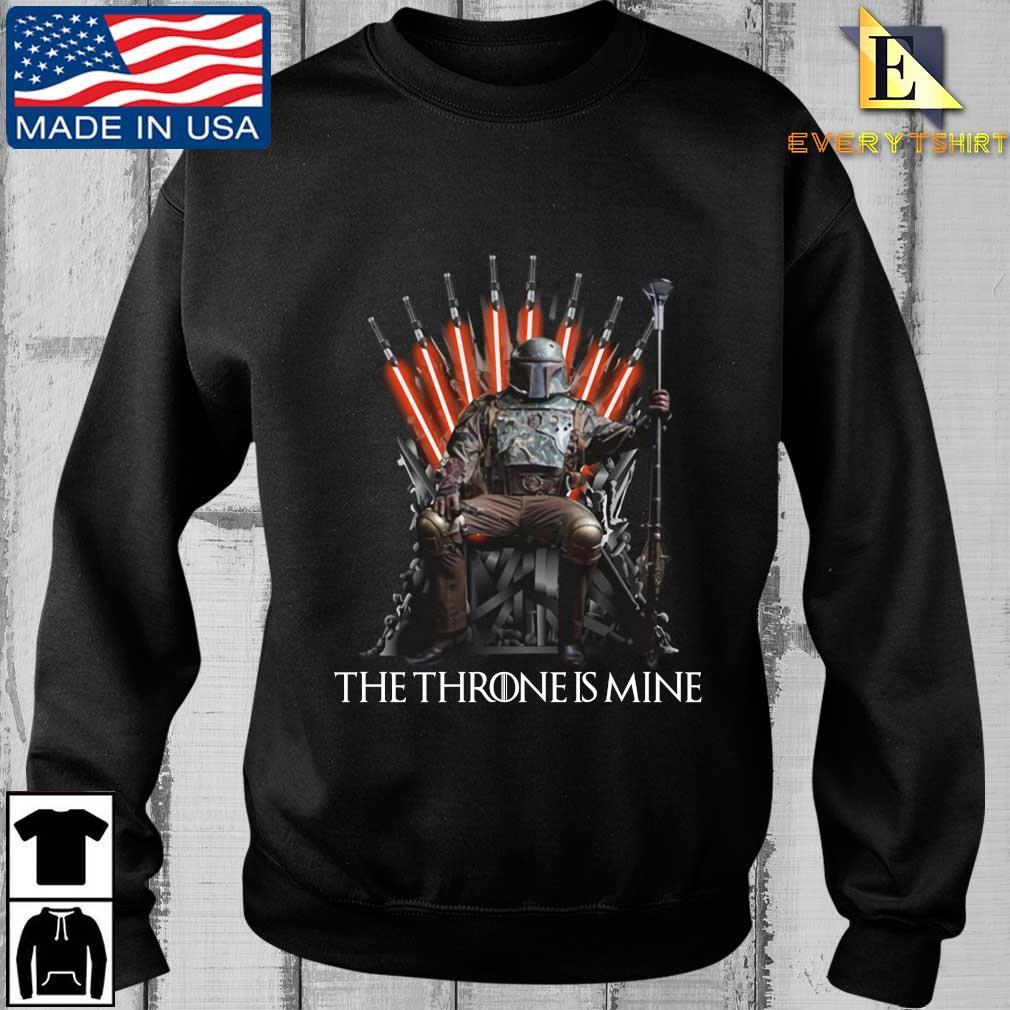 The Mandalorian the throne is mine t-shirt