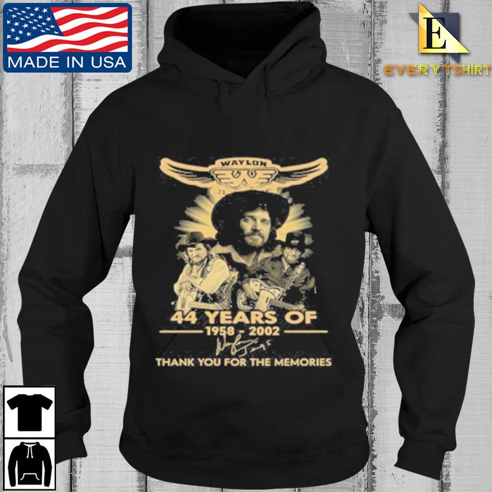 Waylon Jennings 44 Years Of 1958 2020 Signature Thank You For The Memories Tee Shirt Every Hoodie den