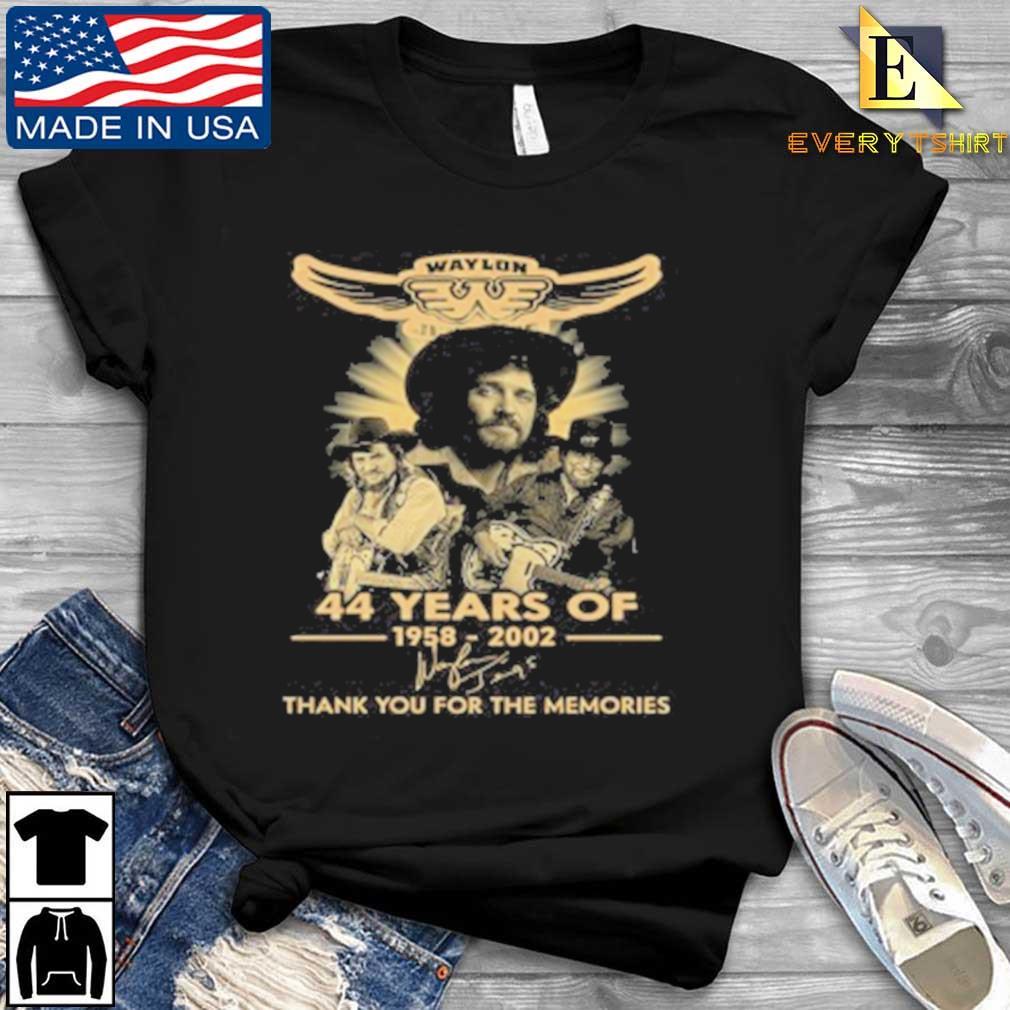 Waylon Jennings 44 Years Of 1958 2020 Signature Thank You For The Memories Tee Shirt Every shirt den dai dien