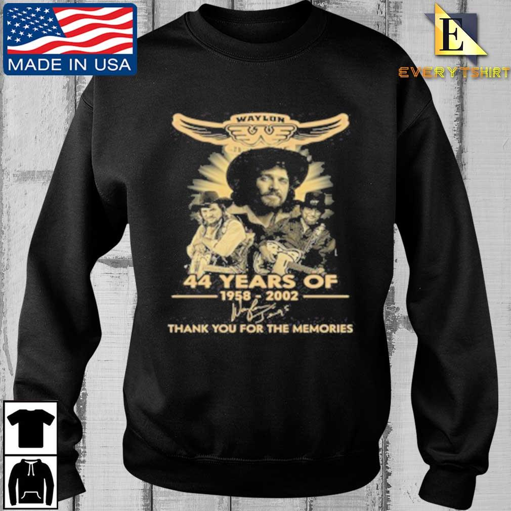 Waylon Jennings 44 Years Of 1958 2020 Signature Thank You For The Memories Tee Shirt